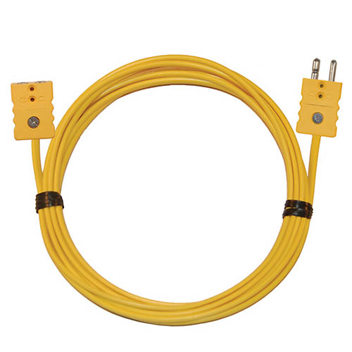 Oakton WD-08516-52 Thermocouple Extension Cable, Type-K, 50ft. w/standard connectors