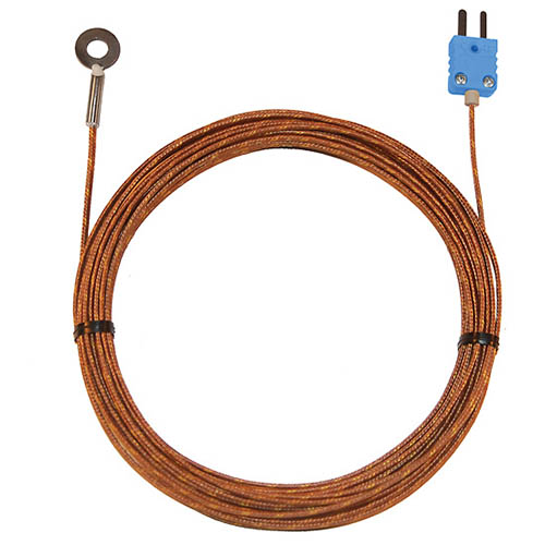 Oakton WD-08525-84 Bolt-on Surface Thermocouple Probe, Type-T, 25-ft. Fiberglass Cable