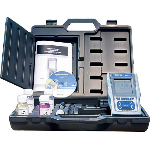 Oakton WD-35408-81 CON 610 Conductivity/TDS/PSU/RES/Temp. Meter Kit with Cal. Solution, Case, NIST