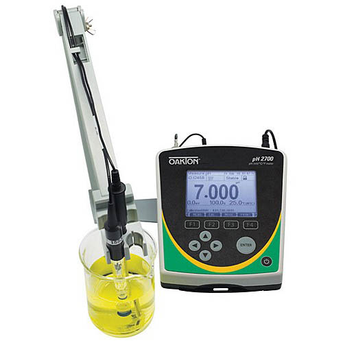 Oakton WD-35420-20 pH 2700 pH/mV/Temperature Benchtop Meter w/pH Electrode, ATC probe, Stand