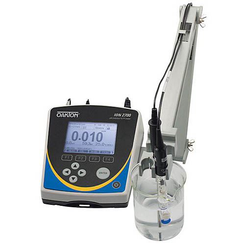 Oakton WD-35421-00 Ion 2700 pH/Ion/mV/Temperature Meter with pH Electrode, ATC probe, Stand