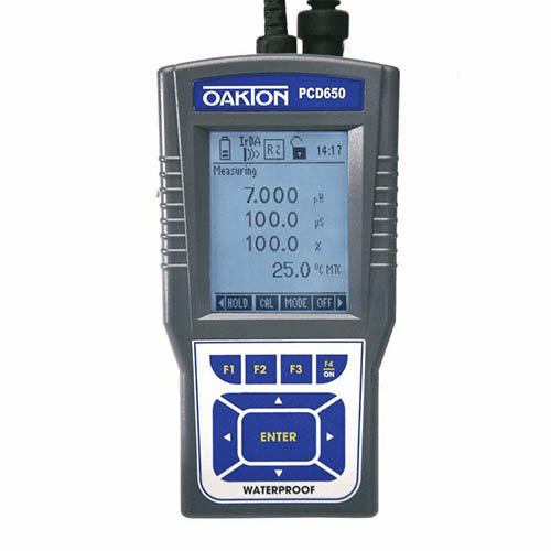 Oakton WD-35434-02 CyberScan PCD 650 pH/mV/Ion/Conductivity/TDS/Salinity/DO/Temperature Meter only