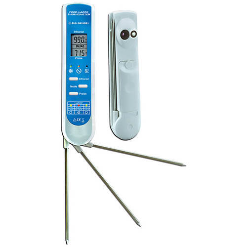 Oakton WD-35625-42 Economic 2-in-1 Food Safety IR Thermometer w/Probe & NIST, -67 to 482° F