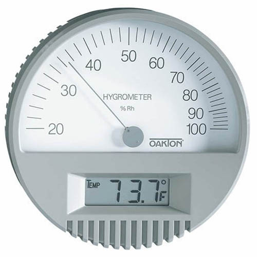 Oakton WD-35700-00 Wall-Mount Thermohygrometer with Digital Thermometer
