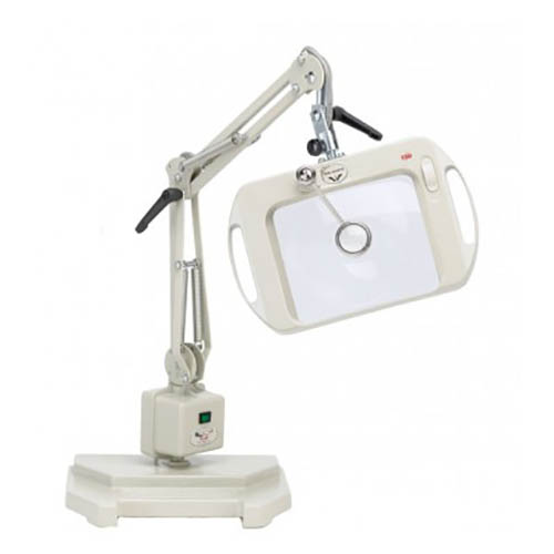 "OC White 71600-O-120 Vision-Lite Magnifier 120V, 25"" Reach, Weighted Base, 3 Diop. Orange"