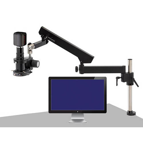 Click for larger image of the OC White TKMACZ-FA MacroZoom HD1080p High Def. HDMI Inspection Camera w/ LED & Articulating Arm Base