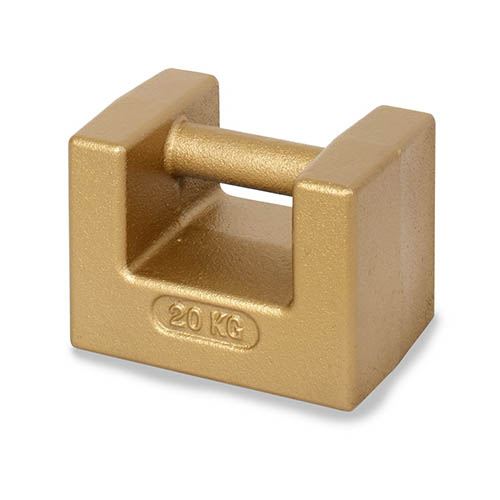 OHAUS 80850303 ASTM Class F Pipe Handle Cast Iron Weights 20kg
