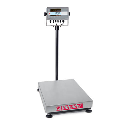 OHAUS D51XW100HL2 Defender 5000 Washdown Bench Scale, Capacity 100kg (250lb), Readability 10g