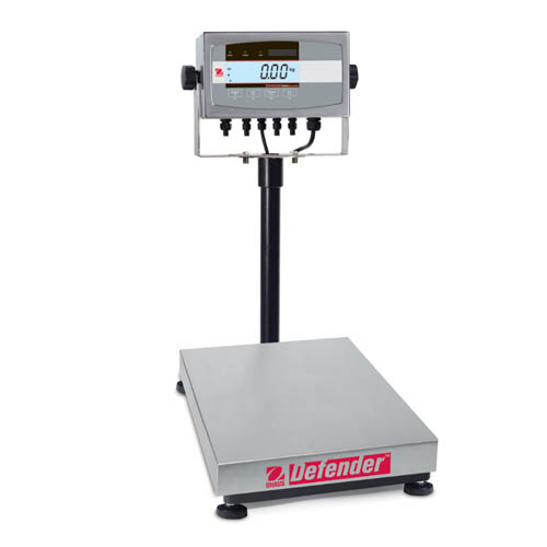 OHAUS D51XW30HR1 Defender 5000 Washdown Bench Scale, Capacity 30kg (60lb), Readability 2g (0.01lb)