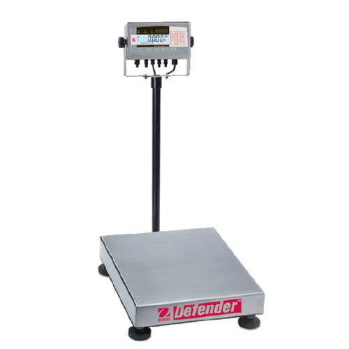OHAUS D71XW300HX2 Defender 7000 Washdown Bench Scale, Capacity 300kg (600lb), Res 0.05kg