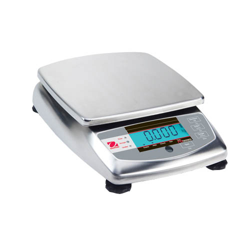 OHAUS FD15 FD Stainless Steel Compact Scale, Capacity 15kg (30lb), Readability 2g (0.005lb)