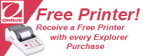Ohaus Free SF40A Printer Promotion