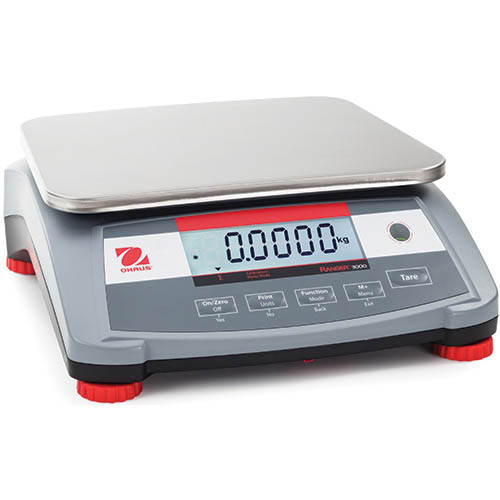 OHAUS R31P15 Ranger 3000 Compact Bench Scale, 30 lb (15kg) capacity, 0.0005kg readability