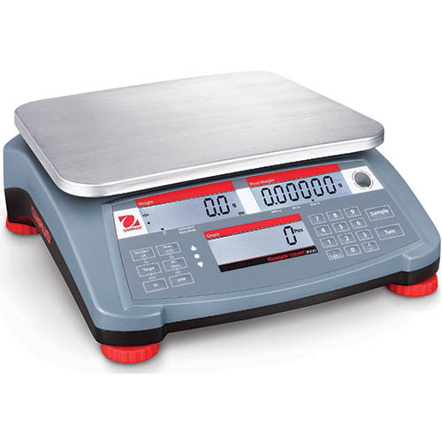 OHAUS RC31P30 Ranger Count 3000 Compact Bench Scale, 60 lb (30kg) capacity, 0.001kg readability