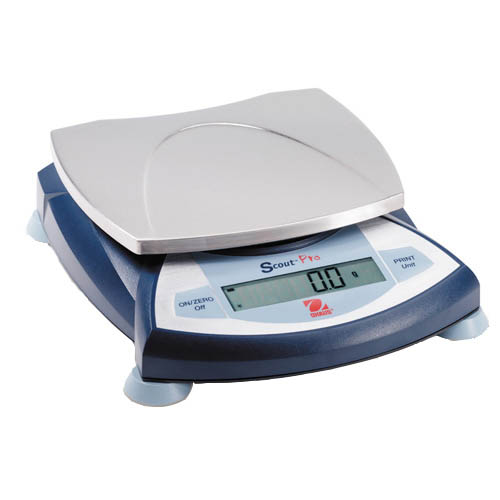 OHAUS SP4001 Scout Pro Portable Balance, Capacity 4000g, Readability 0.1g, Platform 165x142mm