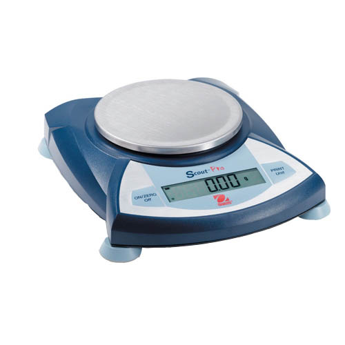 OHAUS SP601 Scout Pro Portable Balance, Capacity 600g, Readability 0.1g, Platform 165x142mm