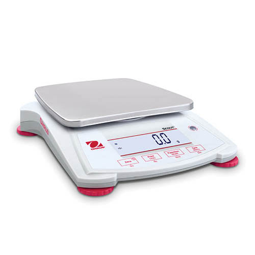 Ohaus SPX6201 Scout SPX Portable Balance, 6200 g Capacity, 0.1 g Readability, Large backlit LCD
