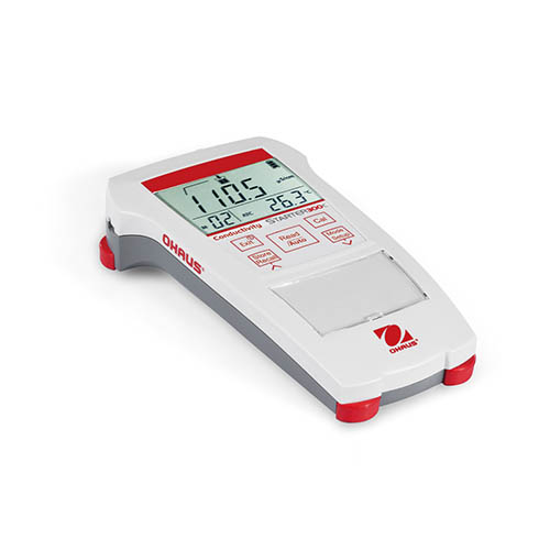 OHAUS ST300C-B Starter 300C Portable EC Meter with Conductivity Standards, No Electrode