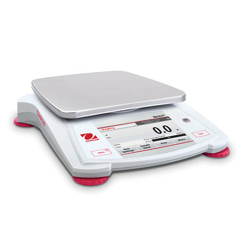 Ohaus STX1202 Scout Portable Balance, Color Touchscreen Display, 1200 g Capacity, 0.01 g Readability