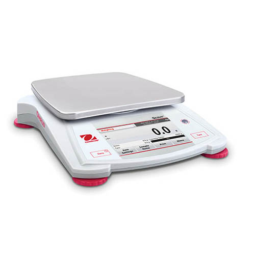 Ohaus STX8200 Scout Portable Balance, Color Touchscreen Display, 8200 g Capacity, 1 g Readability