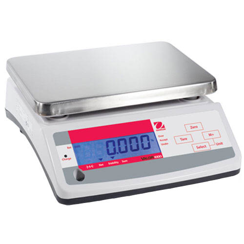 OHAUS V11P15 Valor 1000 Compact Food Scale, Capacity 15kg (33lb), Readability 2g (0.01lb)