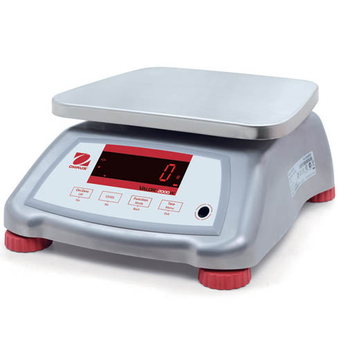 OHAUS V22XWE1501T Valor 2000 Stainless Steel Compact Scale, 1.5kg (3lb) capacity, 0.0005lb Read