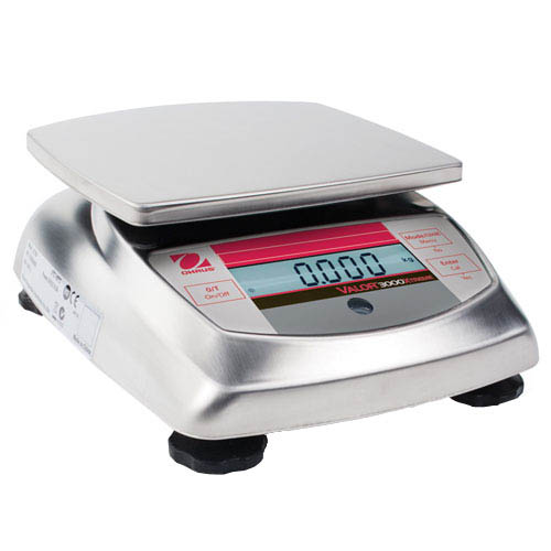 OHAUS V31X3 Valor 3000 Compact Food Scale, Capacity 3kg (6.615lb), Readability 1g (0.005lb)