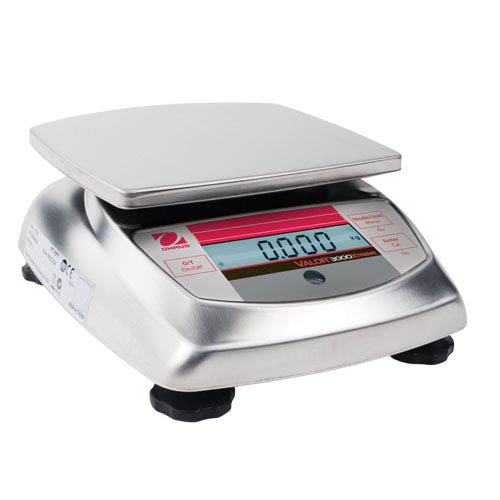 OHAUS V31XW301 Valor 3000 Compact Food Scale, Capacity 300g (0.6615lb), Readability 0.1g (0.0005lb)
