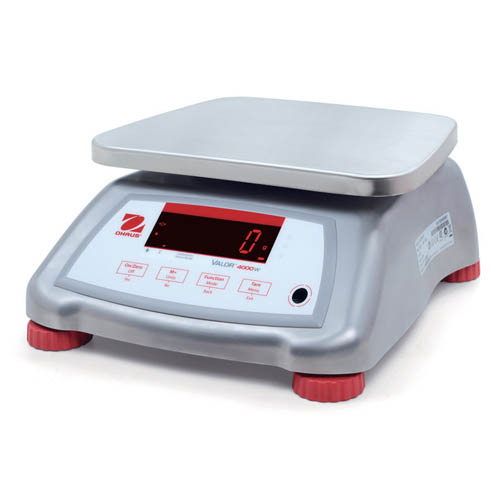 OHAUS V41XWE6T Valor 4000 Stainless Steel Compact Scale, 6kg (15lb) capacity, 0.002 lb Readability