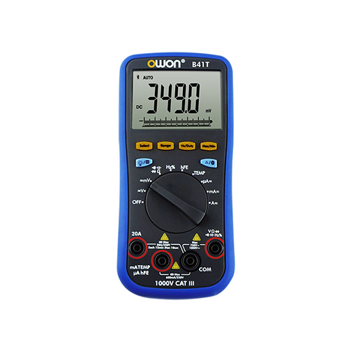 Owon B41T+ True-RMS AC/DC Datalogging Digital Multimeter, 750VAC/1000VDC, with Bluetooth