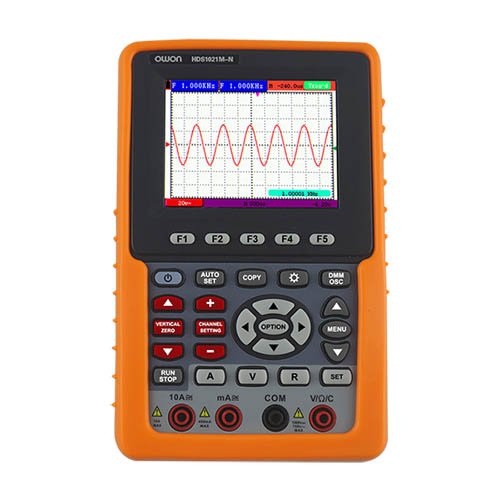 Owon HDS2061M-N 60 MHz, 1 Ch, 500 MS/s Handheld Digital Oscilloscope w/Multimeter, Li-ion Battery
