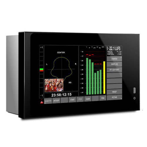 DK-Technologies PTO7 Rack Mounted Multi touch  Audio, Loudness and Logging Meter