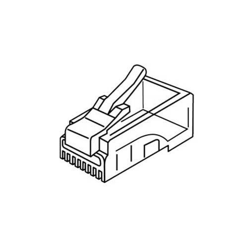 platinum tools 106150 rj-45  8p8c  connector round-solid  3 prong  500  bag