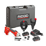 Click for larger image of the RIDGID 52098 RE 6 Electrical Tool Kit with SC-60C Scissor Cutter and 4P-6 4PIN Dieless Crimp Head