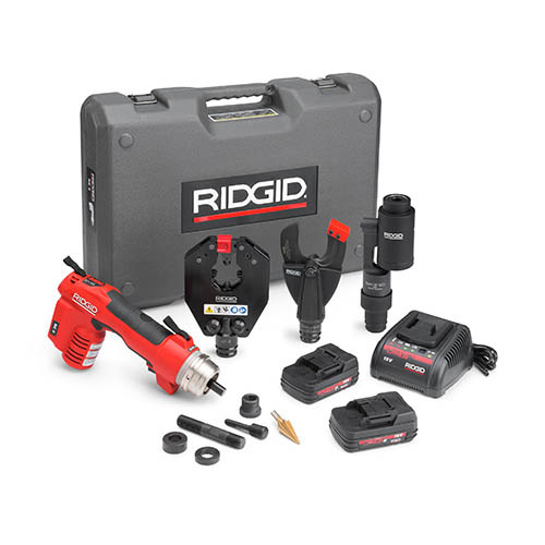 ridgid 52093 re 6 electrical tool kit with sc 60c cutter 4p 6 crimp head and swiv l punch head. Black Bedroom Furniture Sets. Home Design Ideas