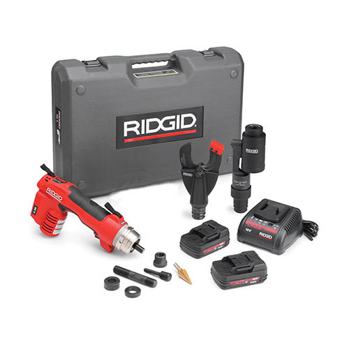 RIDGID 52113 RE 6 Electrical Tool Kit with SC-60C Scissor Cutter and Swiv-L-Punch Knockout Head