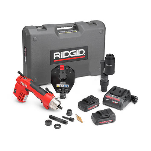 RIDGID 52118 RE 6 Electrical Tool Kit with 4P-6 4PIN Dieless Crimp Head and Swiv-L-Punch Head