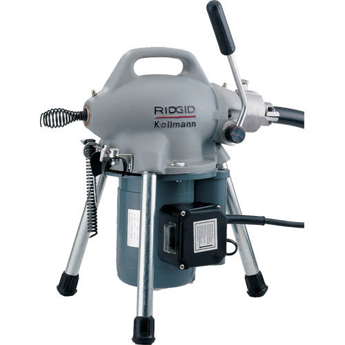 RIDGID 58980 K-50-6 Sectional Drain Cleaning Machine with A-17-A Adapter and A-30 Cable Kit