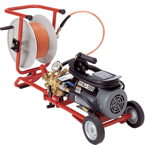 RIDGID 62597 K-1350-C Portable Water Jetter with Pulse, NPT Nozzles, H-1211 Trap Hose and Cart