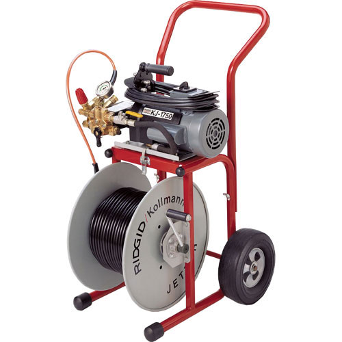 RIDGID 62697 K-1750-C Water Jetter with Dual Pulse, NPT Nozzles, Jet Hose, H-30 Cart and Accys