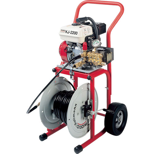 RIDGID 63882 KJ-2200-C Water Jetter w/Pulse, NPT Nozzles, H-1475 Trap Hose, H-30 Cart, and Accys
