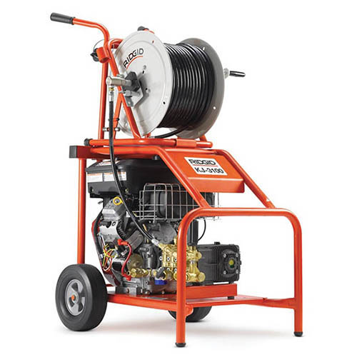 RIDGID 37413 KJ-3100 Water Jetter w/Pulse, NPT Nozzles, H-38 200' Hose Reel and Accessories