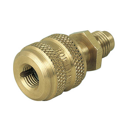 Robinair 10292 1/4 in Quick Seal Adapter, Solid Brass
