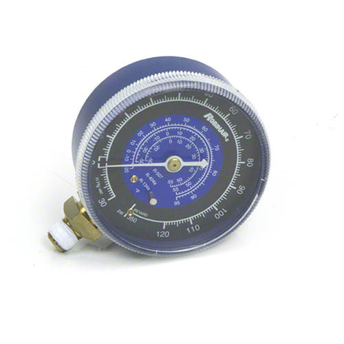 Robinair 11744 Compound Replacement Gauge - Blue, 2 1/2 in, 30 in- 0 - 120 PSI , R134a/404A/507