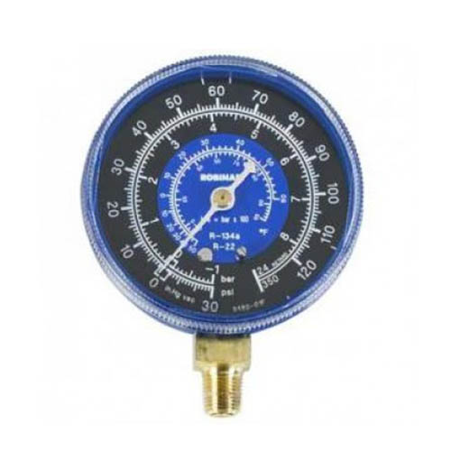 Robinair 11754 Compound Replacement Gauge - Blue, 2 1/2 in, 30 in- 0 - 120 PSI , R22/134a/404A