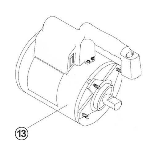 Robinair 15370 Replacement Motor and Power Cord for 15600 Pump