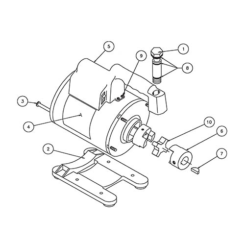 Robinair 15465 Replacement Motor and Handle Assembly for Model 15401, 110-115V/220-240V 50/60 HZ