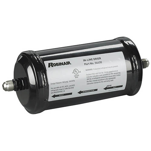 Robinair 34430 Quick Change Filter-Drier for 12134A /17400A /34400 /17700A /34700 Series