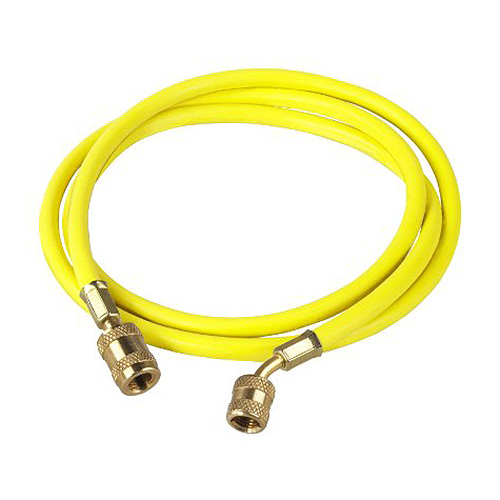 Robinair 68196A 96 in Yellow Enviroguard Hose with 45° Quick Seal Fitting, 3700 psi Burst Pressure