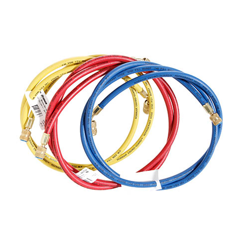 Robinair 69096A 96 in Enviroguard Hoses with 45° Quick Seal Fittings, Set of Three